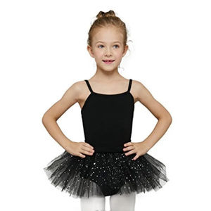 MdnMd Girls Lace Skirted Camisole Leotard